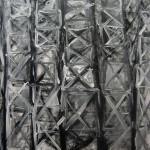tralicci - 2015 - acrilico e olio su tela - cm 50x50