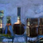 Solfuro - 2015 - acrilico e olio su tela - cm 50x70