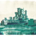 bleu 11 - pantone markers e china su carta - cm 14x22 - anno 2014