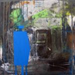 Landscape with bleu cisterna - acrilico su tela cm 50x50 - 2017
