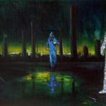 Terzo Uomo - 2014 - olio su tela incamottata su tavola - cm 38x78